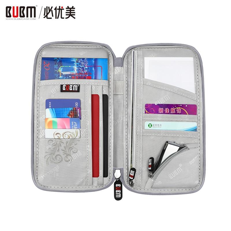 BUBM Multi-purpose Travel Passport Wallet, Document Organizer Holder,portable Handbag For Ticket Cards
