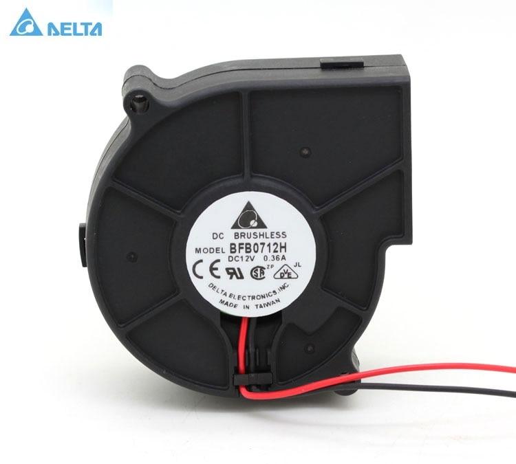 For Delta BFB0712H 7CM 7530 DC 12V 0 36A 2 pin blower Server case cpu Inverter