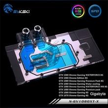 Bykski N-GV1080XT-X, полное покрытие видеокарты водяного охлаждения блок RGB/RBW для Gigabyte GTX1080/1070 XTREME