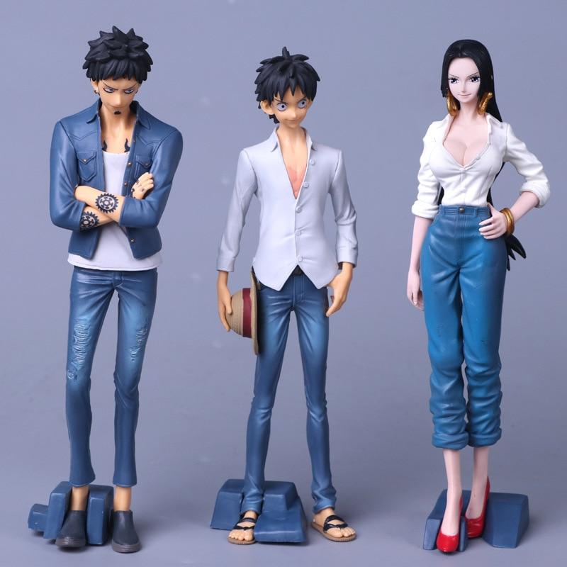 20cm One Piece best jeanist jeans Luffy Trafalgar Law Boa Hancock freak the last word action Figure toy