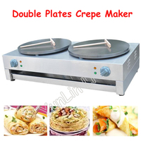 Double Plates Electric Crepe Maker 400mm Double Pancake Maker Commercial Pancake Baking Machine FYA 2