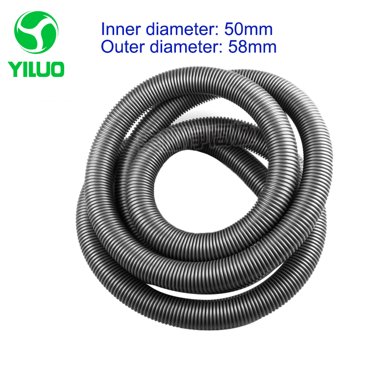 1m Inner Diameter 50mm Gray High Temperature Flexible EVA Hose of Vacuum Cleaner supply equipment of drainage/marrine vacuum pump inlet filters f007 7 rc3 out diameter of 340mm high is 360mm