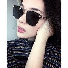 Vintage Cat eye Women Sunglasses Eyewear UV400 High-end Brand Design colorful Brilliant reflective