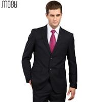 MOGU Vertical Stripe Men's Suits 2017 New Fashion Two Piece Formal Suits For Men Slim Fit High Quality Asian Size 4XL Men Suits