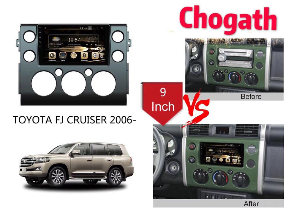Chogath GPS  car navigation andrioid 8.0  car gps navigation  9 inch andrio system for Toyota FJ Cruiser 2006-2018Chogath GPS  car navigation andrioid 8.0  car gps navigation  9 inch andrio system for Toyota FJ Cruiser 2006-2018