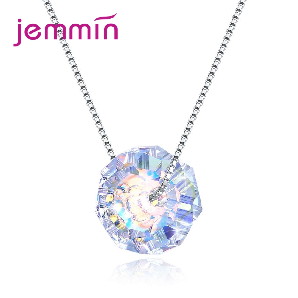 Jemmin Great Clear Cubic Zirconia Necklace Pendant For Women 925 Sterling Silver Summer Style Jewelry Accessory Wholesale