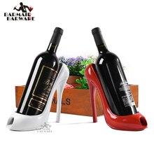 High Heel Shoe Wine Bottle Holder Stylish Rack Gift Basket Accessory for Home Bar Tools