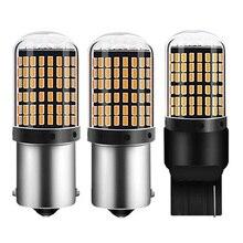 1 шт. T20 7440 W21W светодиодный лампы 3014 144smd светодиодный CanBus без ошибок 1156 BA15S P21W BAU15S PY21W светодиодный светильник для поворотов светильник при отсутствии флэш-памяти