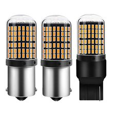 1PC T20 7440 W21W LED Bulbs 3014 144smd led CanBus No Error 1156 BA15S P21W BAU15S PY21W led lamp For Turn Signal Light No Flash(China)