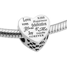 Подходит для pandora браслеты праздник сердца серебряные бусы 100% стерлингового серебра 925 подвески diy ювелирные изделия из натурального камня perlas berloque