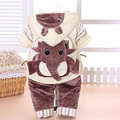 Baby Set 2016 Winter Boy Girls or Kids Ultra Thick Super Warm Suit Boys Fashion Cartoon Pattern Coat+T-Shirt+Pants 3 Piece/Sets
