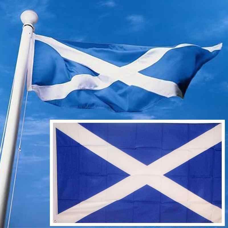 Шотландский крест флаг баннер Saltire шотландский Вымпел долговечность открытый прямоугольник 90*150 см