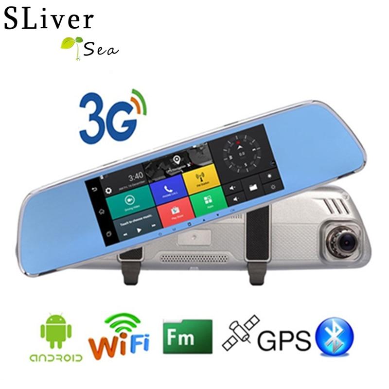 SLIVERYSEA 3G Android GPS 7.0 inch Rearview Mirror Camera Night Vision Car Video Surveillance Recorder Car Dvr Dash Camera