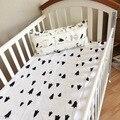 2016 Limitada Direct Selling Cama Fundamento Do Bebê Cama de Bebê Recém-nascido Folha de Berço lençóis Super Macio 115*150 cm Conjunto de Cama Berço Infantil/