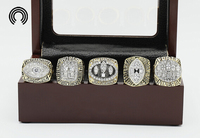 Factory Sales Ring Sets With Wooden Boxes Replica Super Bowl Copper High Quality 5pcs Packs San
