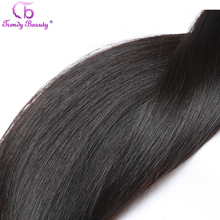 Trendy Beauty Hair Products Non remy Brazilian Straight Human Hair Natural 1B Color Hair weft Free