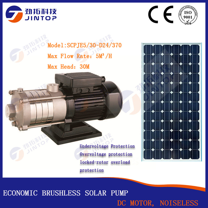 (MODEL SCPJE5/30-D24/370) JINTOP BRUSHLESS SOLAR SURFACE PUMP Free Shipping 5T/H DC24v 0.5HP Best Price SS304 Centrifugal Pump(MODEL SCPJE5/30-D24/370) JINTOP BRUSHLESS SOLAR SURFACE PUMP Free Shipping 5T/H DC24v 0.5HP Best Price SS304 Centrifugal Pump