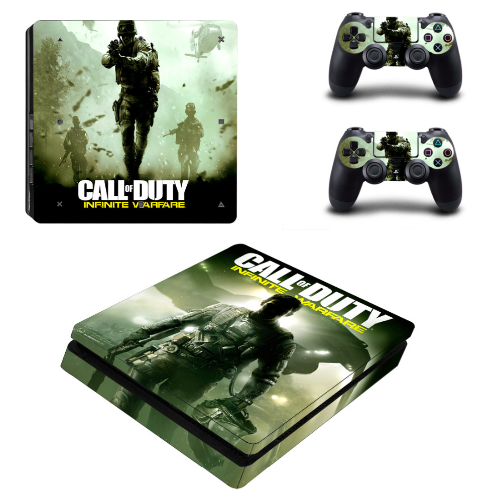 Call of Duty Infinite Warefare Decal PS4 Slim Skin Sticker For Sony PlayStation 4 Console and Controller PS4 Slim Sticker Vinyl