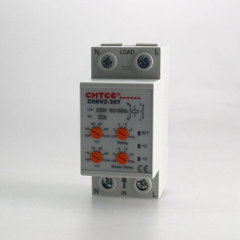 ΞHousehold Self-resetting Over And Under Voltage Protection Relay ...