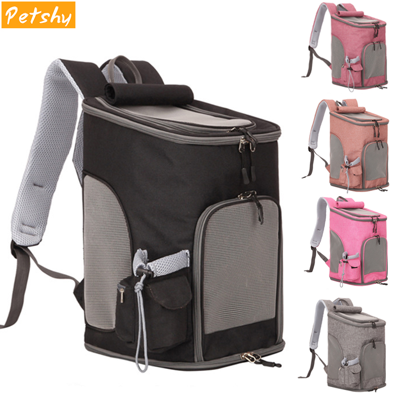 Sac à dos pour chien de compagnie Portable pettimide sac à dos pour chat respirant sac de transport de voyage en plein air sac à dos confortable petit moyen chiens chats