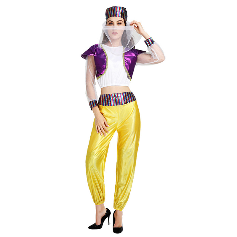 Free shipping Aladdin and the magic lamp Cosplay Costumes Aladin& Jasmine Princess Adult/women Stage Dance Family Clothes Suit