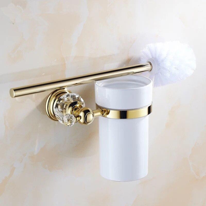 Lujo crysta escobillero con Cerámica de la taza/de decoración del hogar producto