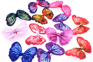 Image 4 - 100pcs Dog hair accessories  Butterfly design Dog Pet hair bows Rubber bands Pet grooming products Fashion Pet Supplies