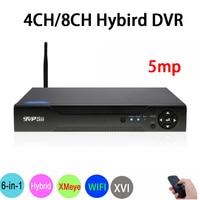 5MP Surveillance Camera XMeye Hi3531D H.265 4CH/8CH Hybrid Coaxial WIFI 6 in 1 XVI TVI CVI NVR AHD CCTV DVR Free Shipping