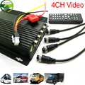 MINI Realtime Car Mobile DVR 4CH Video/Audio Input H.264 SD card AVI with IR Remote Controller Encrption