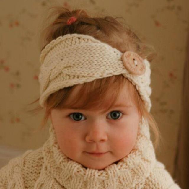Sllioous Newborn Kinder Mädchen Turban Ohr Winter Warme Taste