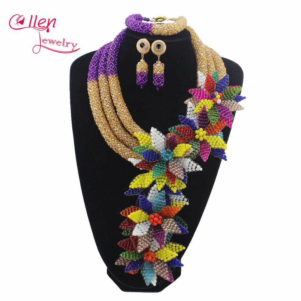 Luxury African accessories beads jewelry sets india nigerian flower beads beaded wedding necklace dubai jewelry sets W12895Luxury African accessories beads jewelry sets india nigerian flower beads beaded wedding necklace dubai jewelry sets W12895