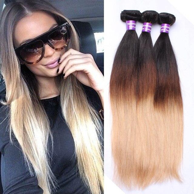 Ombre hair extensions peruvian virgin hair straight three tone ombre hair extensions peruvian virgin hair straight three tone color 1b427 ombre pmusecretfo Choice Image