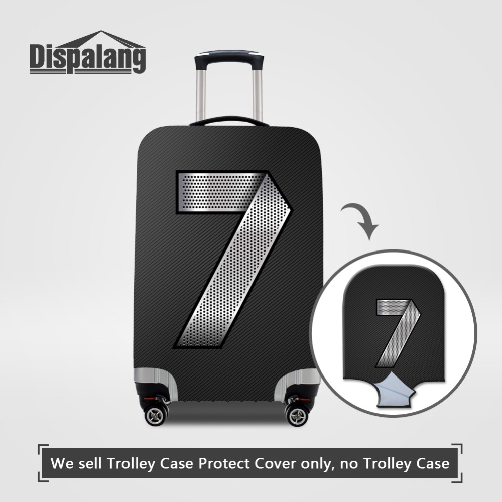 Travel On Road Luggage Protective Cover Metal Number Pattern Case For A Suitcase Covers For 18 20 22 24 26 28 30 32 Inch Trolley