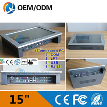 Intel D525 1.8GHz 15″ industrial Resistive touch screen pc embedded panel pc Resolution 1024×768 Installation desktop
