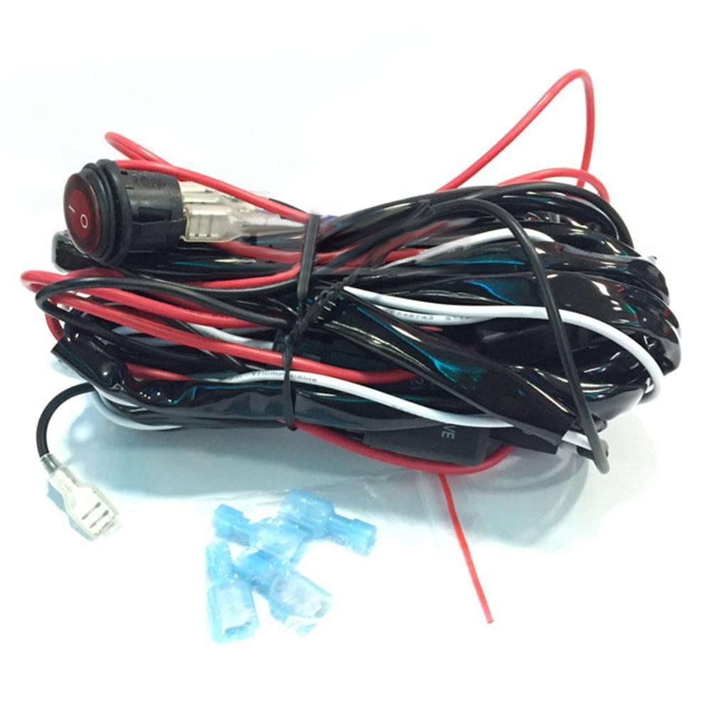 BEESCLOVER 1-2 Off Road ATV светодиодный свет бар жгут Комплект Универсальный Применение для HID противотуманные фары, светодиодный фары работы r28 ...