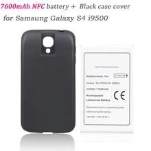 Batteria 7600 мАч Замена NFC Батарея Bateria + задняя крышка для Samsung Galaxy S4 i9500 телефон коммерческий продлить толще Батарея