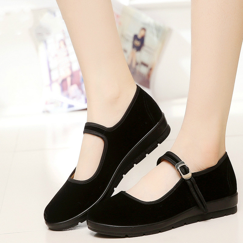 2018 Mary Janes Ladies Flats Buckle Strap Comfortable Women Shoes Round Toe Solid Casual Shoes Plus Size 34~41 Black 5255 plus size 34 41 black khaki lace bow flats shoes for womens ds219 fashion round toe bowtie sweet spring summer fall flats shoes