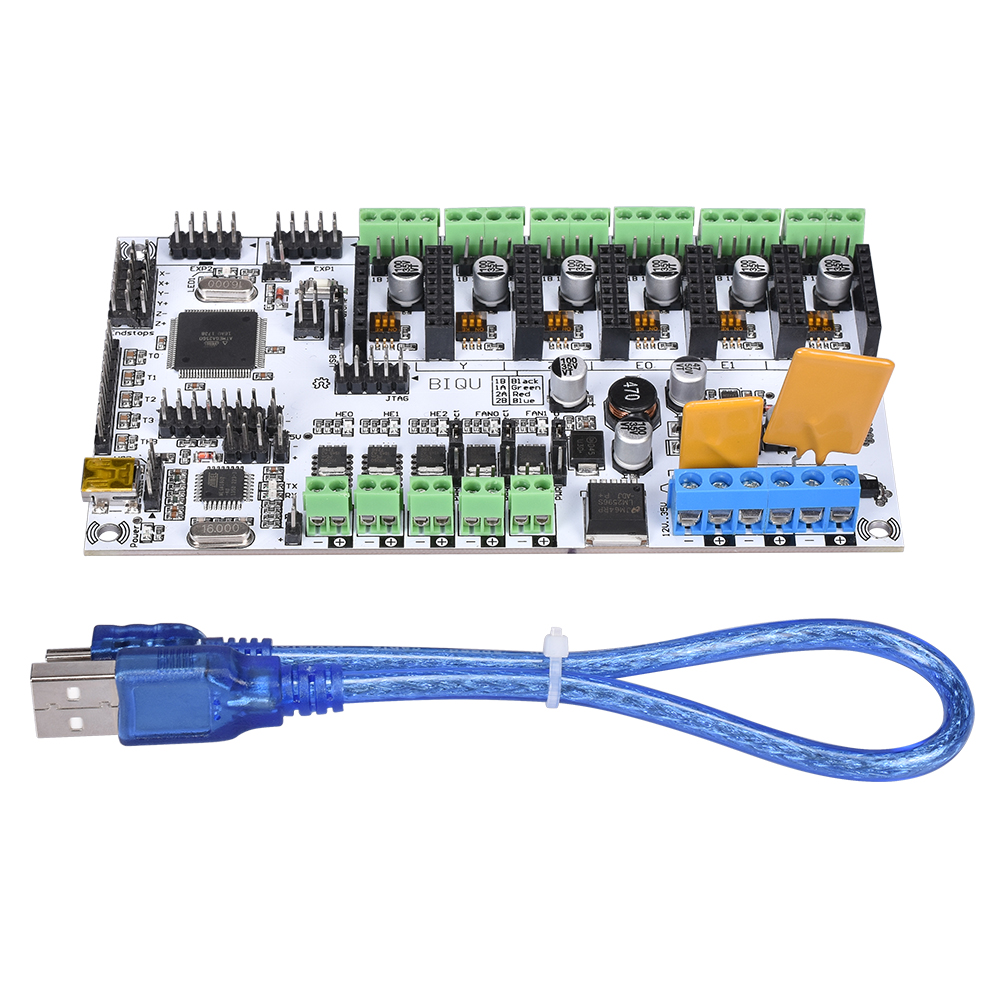 3D Printer Motherboard Rumba MPU / RUMBA Optimized Version Control Board With A4988 DRV8825 Stepper Motor For 3D Printer Parts flsun 3d printer big pulley kossel 3d printer with one roll filament sd card fast shipping