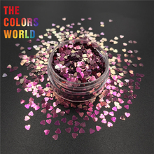 TCT-352 Chameleon Color Heart 3MM Nail Glitter Nail Art Decoration Makeup Tattoo Tumblers Crafts Festival Accessories Supplier