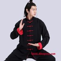 Male & Female Handmade Linen Tai Chi Uniform, Kung Fu,martial Art Chinese style Suit Black,red,llight Blue,orange,white