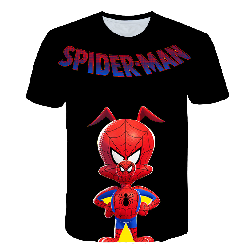 Cartoon Spider-Man: Into the Spider-Verse 3D Print Tshirt Women/Men Hiphop Streetwear T-shirt Boys Modis T shirt Clothes camisas