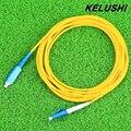 KELUSHI  Fiber Optical Patch cords cables leads SC-LC Singlemode 9/125 SM jumper  Duplex 3mm 3M LSZH LSOH Free Shipping