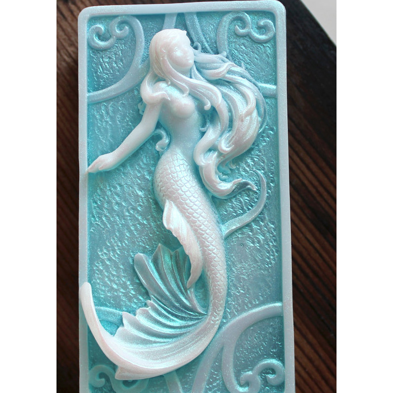 Silicone Mold Mermaid soap mold in Sea Custom Scented Sea Scented DIY Handmade Beach Soap Mould in Cake Molds from Home Garden