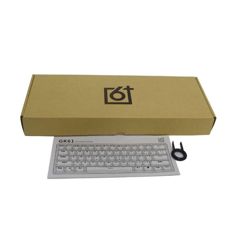 GK61 61 clé USB filaire LED rétro-éclairé axe Gaming clavier mécanique pour bureau R2LA - 6