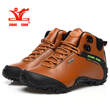 XiangGuan Outdoor sneakers 81998 males out of doors sneaker climbing High Leather mountain sport trekking tourism boots
