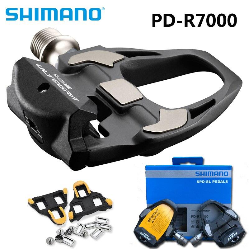 Véritable vélo de route SHIMANO R7000 carbone auto-bloquant pédales SPD pédale de vélo avec crampons SH11