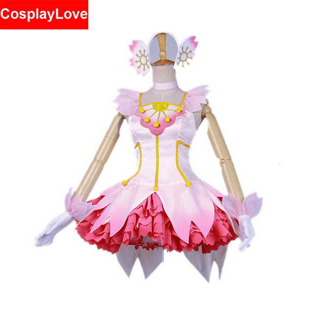 Cardcaptor Sakura Kinomoto Sakura Clear Card Dress Crystal Cherry Blossoms  Pink Cosplay Costume For Christmas CosplayLove