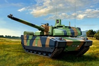 Tank Leclerc French Amx 56 Caliber Anti Aircraft Armor Combo Steel QX123 Room Home Wall Modern