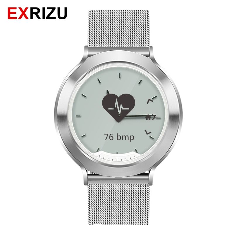 EXRIZU M6 Stainless Steel Strap Men Women Smart Watch Physical Hands Heart Rate Monitor Sports Fitness