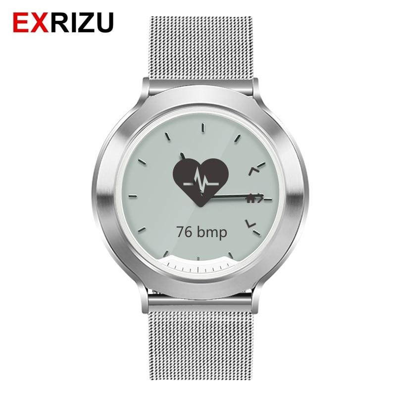 EXRIZU M6 Cinturino In Acciaio Inossidabile Delle Donne Degli Uomini di Smart Watch & Fisica Mani Monitor di Frequenza Cardiaca di Sport Fitness Tracker 5ATM Impermeabile